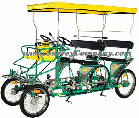 Ciclofan Delfino, quadricycle, four (4) wheel four (4) person cycle