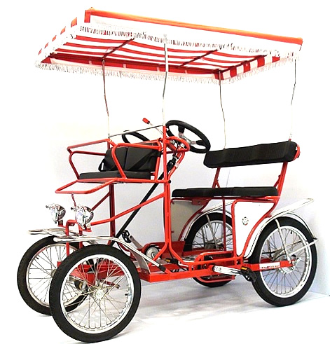 four wheel surrey bike for 2 people to pedal