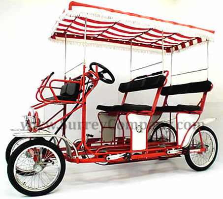surrey cycle, 4 wheel bicycle, four wheel bike, 4 person bike